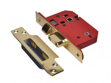 StrongBOLT 22WCS Mortice Bathroom Lock Polished Brass 68mm 2.5in Visi